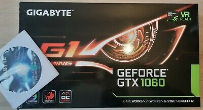 Gigabyte GeForce GTX 1060 G1 Gaming 3GB GDDR5 REV2.0 Graphic Cards GV-N1060G1GAM