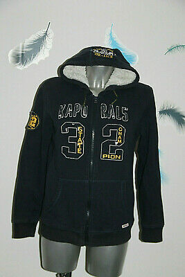 Jacket Stuffed / Lined Vest Hoodie Navy Blue Kaporal 5 Size 16 Years Mint