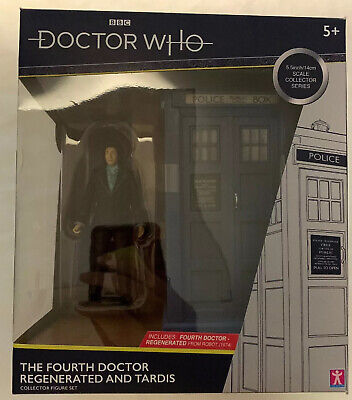 Doctor Who The Fourth Doctor Regenerated And Tardis Collectable 5.5inch/14cm