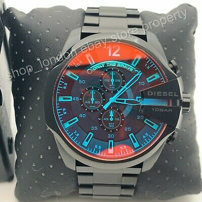 DIESEL DZ4318 Mega Chief Black Ion-plated Chronoghaph Men's Wrist Watch