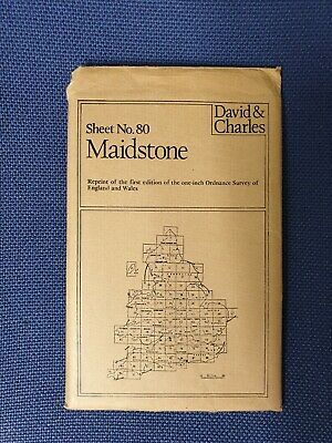 David & Charles Reprint First Ordnance Survey Map Sheet No 80 maidstone