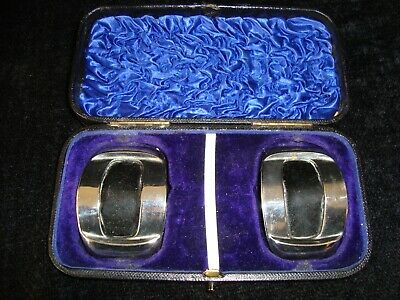 Boxed Antique Silver Plate Shoe Buckles