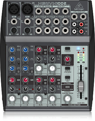 Behringer 1002 Premium 10-Input 2-Bus Mixer with XENYX Mic Preamps + Warranty