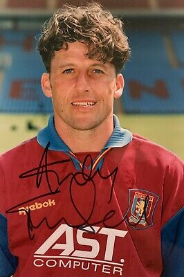 Andy Townsend HAND SIGNED Aston Villa Official Club Photograph *IN PERSON* COA