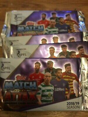 TOPPS MATCH ATTAX SPL 18/19 2018/19 -50 Sealed Packets Packets of 7 Cards