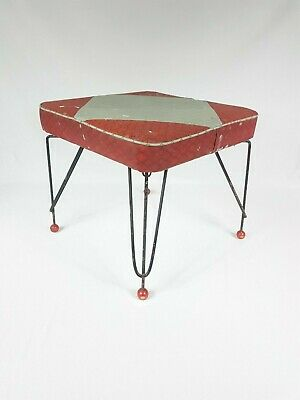 Original Mid Century Abstract Foot Stool , Possibly 1960's