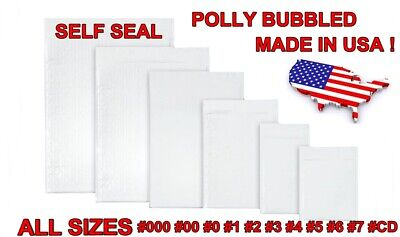 Poly Bubble Mailer Padded Envelope Size 0 1 2 3 4 5 6 7 00 000 CD DVD Self Seal