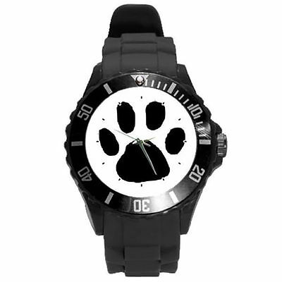 White Black Yellow Pink Grey Purple Lime Green Pink Brown Animal Paw Watch