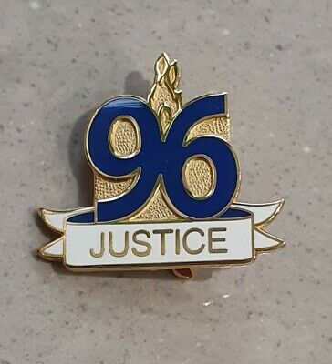 Everton 96 Justice Pin Badge - Great Gift idea