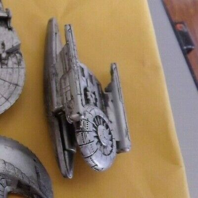 STAR TREK MICRO MACHINES   NCC-638 USS Grissom Pewter Loose No Stand