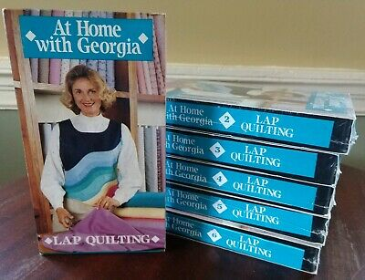 At Home With Georgia - Lap Quilting - #1-6 ~ VHS Lot -ALL BUT ONE New & Sealed