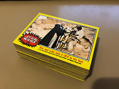 Star Wars - Series 3 (YELLOW) - Complete 66 Trading Card Set - Topps 1977 - NM