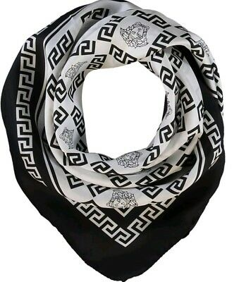 Authentic Versace Medusa Silk Scarf Made in Italy RRP280£ BNWT