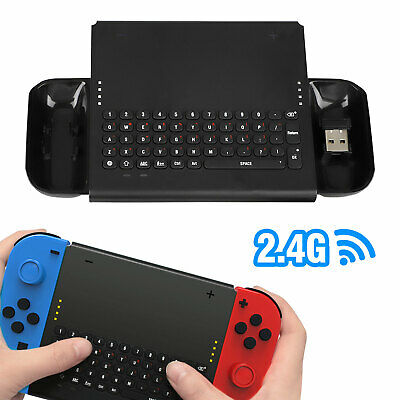 Wireless Keyboard for Nintendo Switch Joy-Cons Controller with 2.4G USB Receiver
