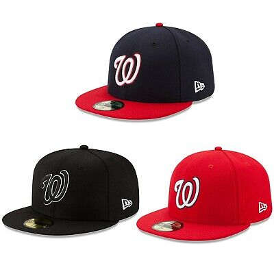 New Era Washington Nationals GAME 59Fifty Fitted Hat Red Black White MLB Cap