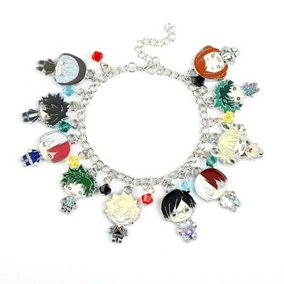 Anime My Hero Academia Silver Gemstone Accessories Fashion Bracelet