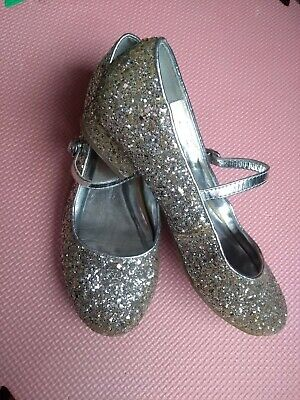 Girls Party Shoes Sparkly Size 3 M&S