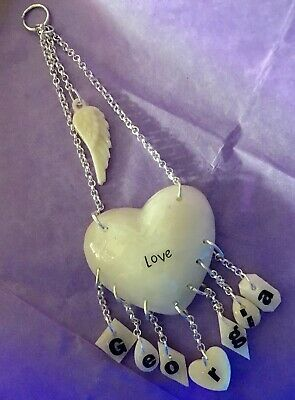 💜Breast Milk Heart+your Name Letter Charms💜1st Class*see Del Time