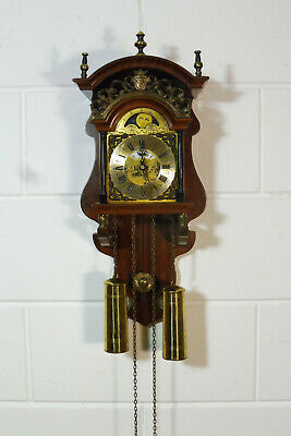 Warmink Wuba Dutch Wall Clock Sallander Nutwood Old Clock