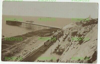 Old Postcard Mumbles Railway Glamorgan South Wales Real Photo Used Swansea 1909