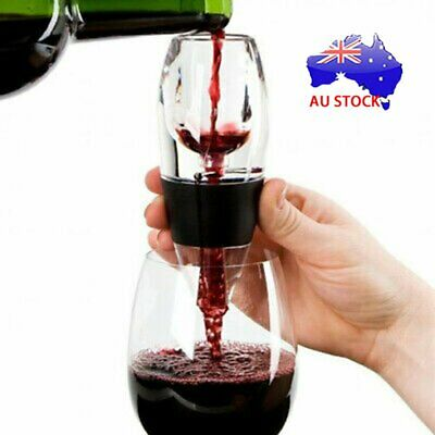 New Magic Decanter Essential RED Wine Aerator and Sediment Filter AU post BO