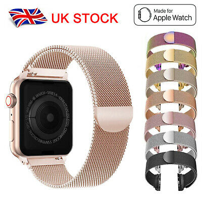 For Apple Watch Series 5 4 3 2 1 Magnetic Milanese Loop Band Strap 38/40/42/44mm