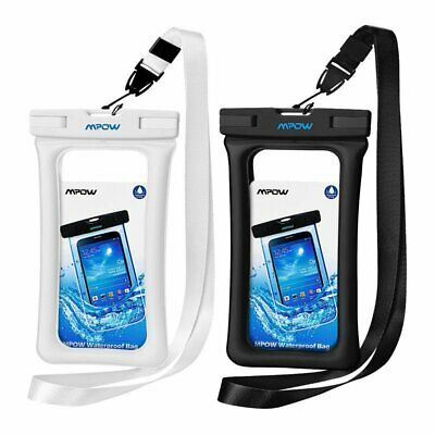 2pcs Floating Bag Underwater Pouch Dry Waterproof Case Cover Universal Cellphone
