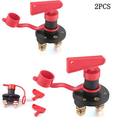 2pack 12V Car Truck Boat Battery Disconnect Power Isolator Cut Off Kill Switch