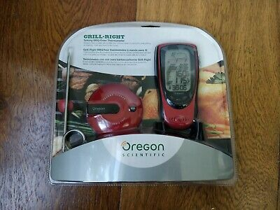 *NEW* Oregon Scientific Grill Right Wireless Talking BBQ /Oven Thermometer AW131