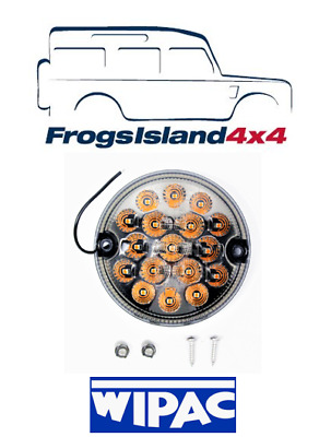 AMR6527LEDSM WIPAC 95mm LED SMOKED INDICATOR FOR LAND ROVER DEFENDER