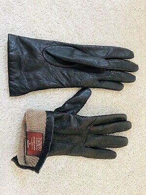 Ladies Size SMALL Dark Brown Soft Leather Dents Gloves