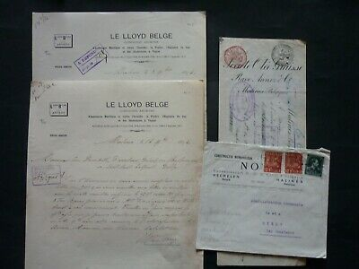 MALINES 4 documents 1886/94/1948