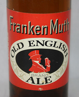 Frankenmuth Beer Old English Ale Vtg Bottle Glass Michigan Brewing With Cap