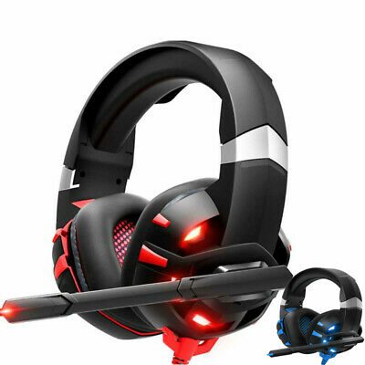 Gaming Headset 7.1 Surround Sound Stereo Noise Canceling LED Headphones For PS4