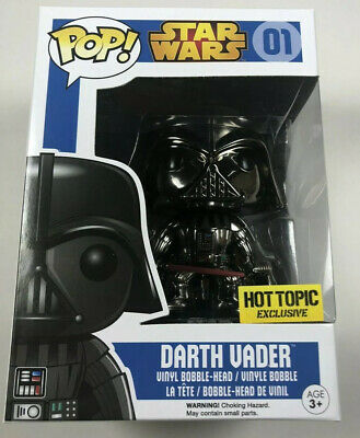 Funko POP - Star Wars - DARTH VADER CHROME - Hot Topic Exclusive - NEW # 01
