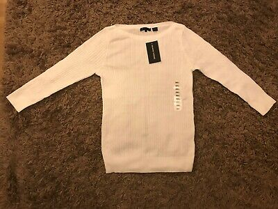 Jeanne Pierre Ladies Womens Woolly Style Jumper (White) Size Small - BNWT