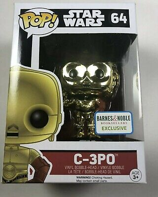 Funko POP Star Wars - Force Awakens - C-3PO CHROME - Barnes Noble Exclusive # 64