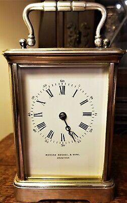 English 19th Century Silver Plated Carriage Clock.