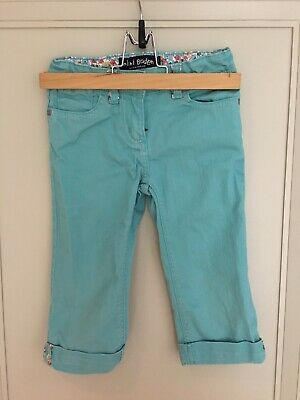 Mini Boden Girls Turqoise Cropped Trousers Age 6