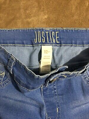 Lot of 2 Justice girls 12 plus mid rise jeggings