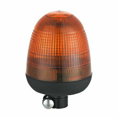 DIN Pole Mount Tractor Digger Plant Rotating Flashing Amber LED Strobe Beacon