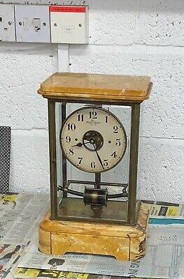 Antique French Electric Bulle Mantel Clock