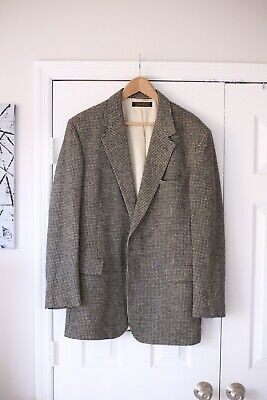 Vintage Brooks Brothers Houndstooth Camelhair Blazer Size 42 Long EUC Rare