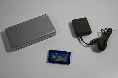 DS Lite Silver color Official Console Nintendo Handheld System Game JAPAN F/S