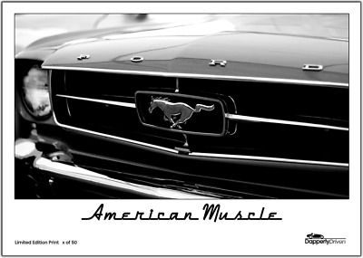 FORD MUSTANG EVOLUTION Of American Muscle Car History POSTERA4 A3 A2 A1