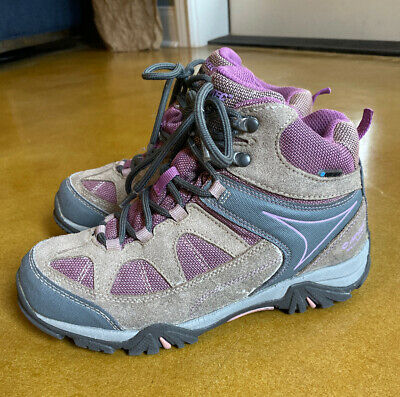 Girls Hi Tech Waterproof Shield Altitude Hiking All Terrain Boot Shoe Size 4 EUC
