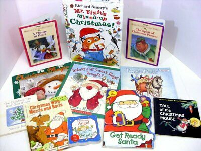 Christmas Books for Young Children Lot of 11 Board Pop-up Stories Santa Claus