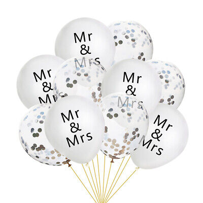 Mr & Mrs Balloons Confetti Latex Balloon Wedding Party Decoration Get Married