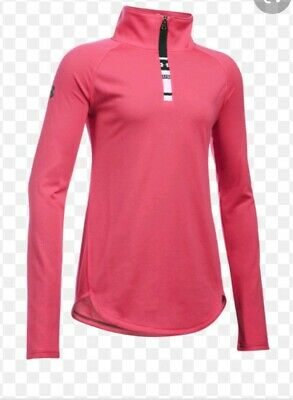 Under Armour Girls Large Pink Jacket Top 1281154-692 Youth Large NWT