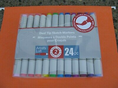 Sealed Artist/'s Loft 24 Piece Dual Tips Sketch Markers Level 2 Brand New